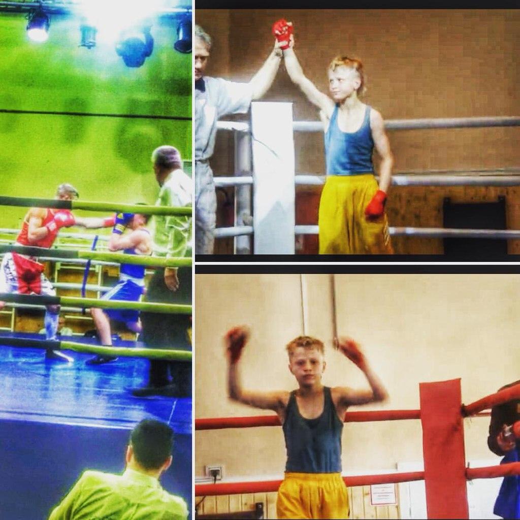 Первый бой по боксу Сергея Воробьева