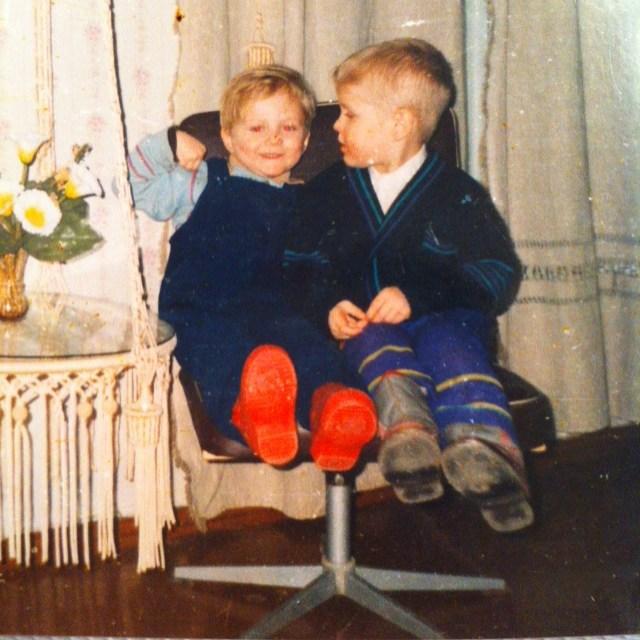 Сергей Воробьев с братом Григорием в детстве