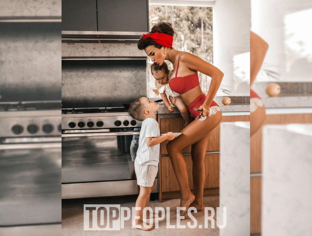 Надин Серовский и её дети